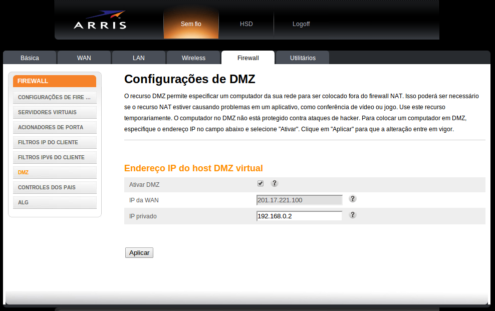 arris-tg862-firewall-dmz