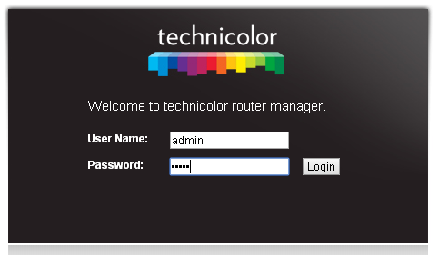 01-Technicolor-Welcome-to-WEB-Configuration